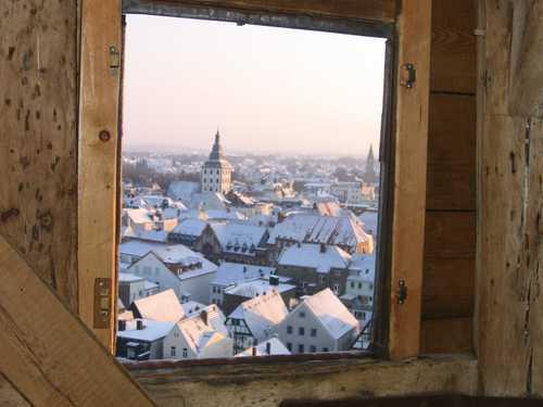 Ausblick vom Turm bei Schnee